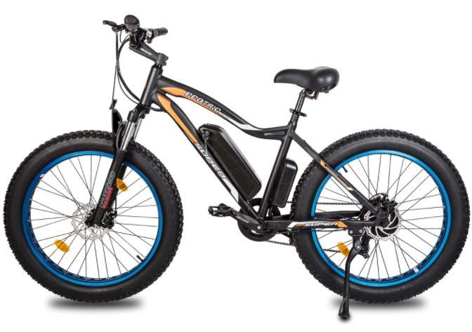 Ecotric fat tire snow e bike